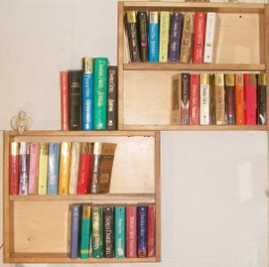 Drawers Repurposed into Bookshelf