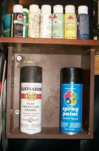 Drawer Repurposed into Shelf
