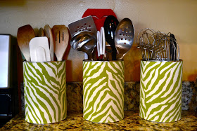 Fabric Utensil Cans