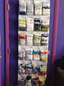 Shoe Organizer Used to Store Small Articles of Clothing