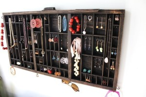 Repurposed Drawer as Jewelry Display