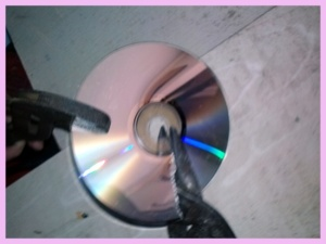 DIY CD Pieces Step # 1