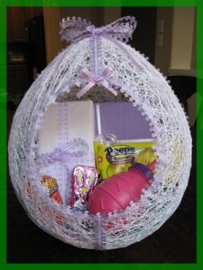 Easter Basket From String