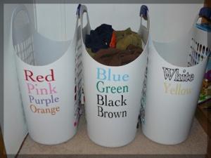 sorting bins