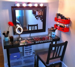 Table and Mirror Vanity