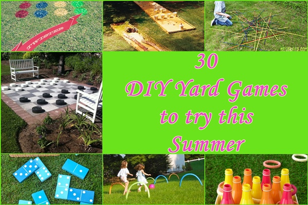 30 DIY Yard Games to try this Summer